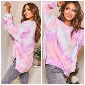 Tie-dye cotton candy ultra soft sweatshirt